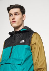 The North Face - MENS FANORAK - Tuulitakki - teal/black/khaki - 4