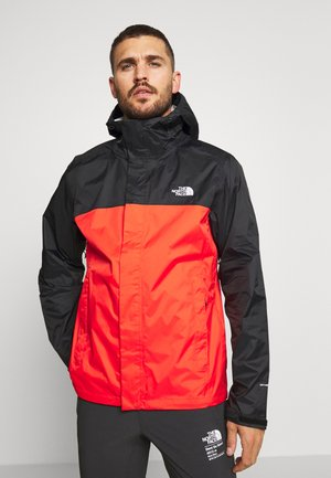 MENS VENTURE 2 JACKET - Hardshellová bunda - fiery red/black