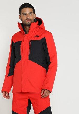 CLEMENT 2-IN-1 - Lyžařská bunda - fiery red/black