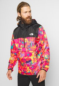 The North Face - MEN'S NOVELTY FANORAK - Veste coupe-vent - black/pink - 0