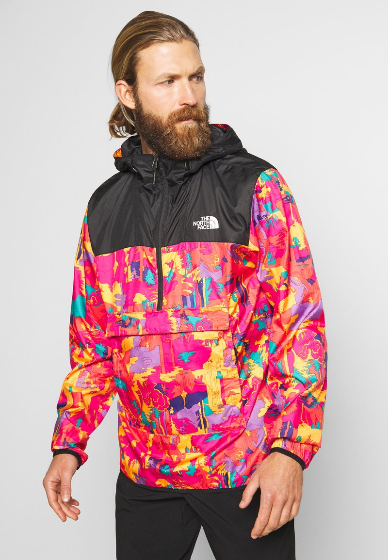 The North Face - MEN'S NOVELTY FANORAK - Veste coupe-vent - black/pink