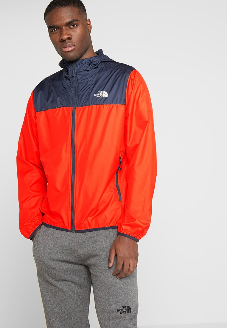The North Face - MENS CYCLONE 2.0 HOODIE - Impermeable - fiery red/urban navy