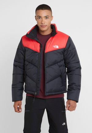 JACKET - Winter jacket - black/red