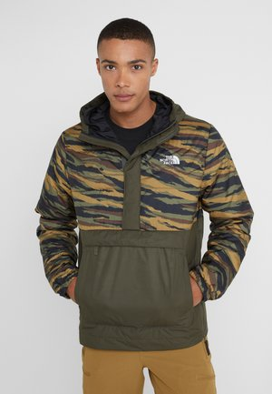 INSULATED FANORAK - Outdoorjacke - british kaki tiger camoprint /new taupe green