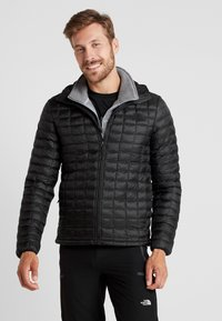 The North Face - THERMOBALL ECO HOODIE - Zimní bunda - black matte - 0