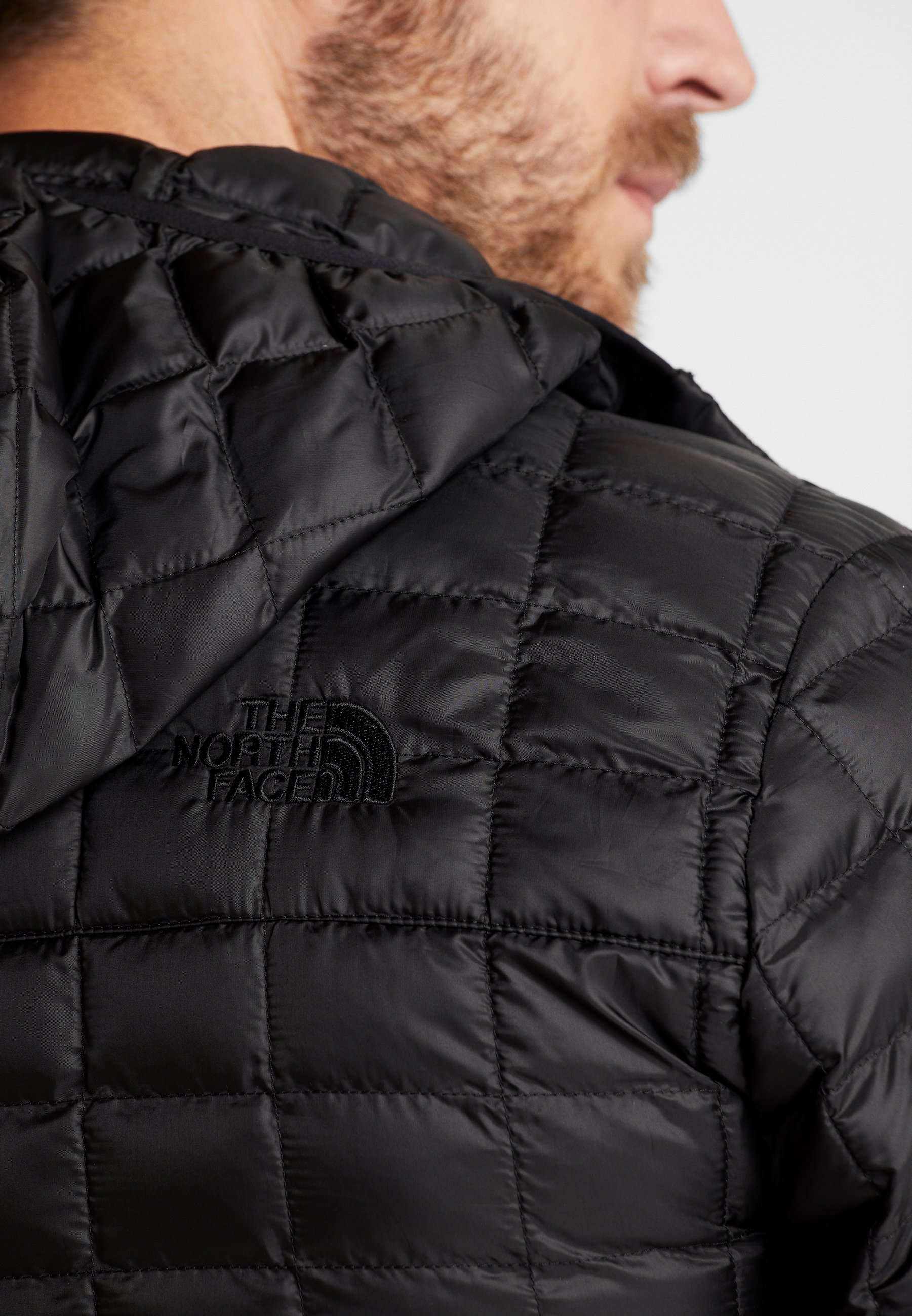 The North Face THERMOBALL ECO HOODIE - Giacca invernale - black matte