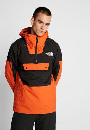 SILVANI ANORAK - Ski jas - papaya orange/black