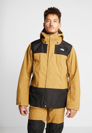 UNI TRIED AND TRUE JACKET - Laskettelutakki - british khaki/black