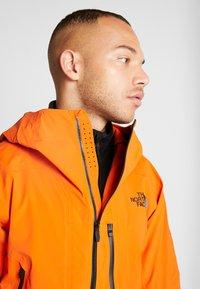 The North Face - M FREETHINKER FutureLight™ JACKET - Kurtka narciarska - papaya orange/black - 3