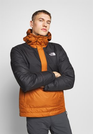 MENS INSULATED FANORAK - Kurtka Outdoor - caramel cafe/black