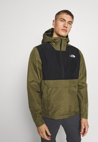 The North Face - MEN'S WATERPROOF FANORAK - Veste coupe-vent - burnt olive - 0