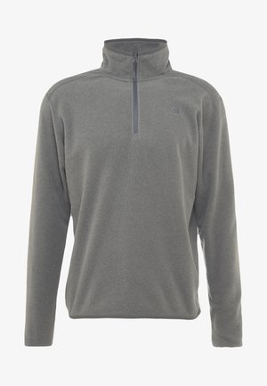 MEN GLACIER ZIP - Fleecetröja - medium grey heather/high rise grey