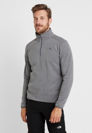 MEN GLACIER ZIP - Fleece jumper - medium grey heather/high rise grey