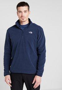 The North Face - MEN GLACIER ZIP - Bluza z polaru - dark blue - 0