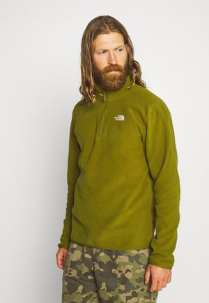 MEN GLACIER ZIP - Fleecepaita - fir green