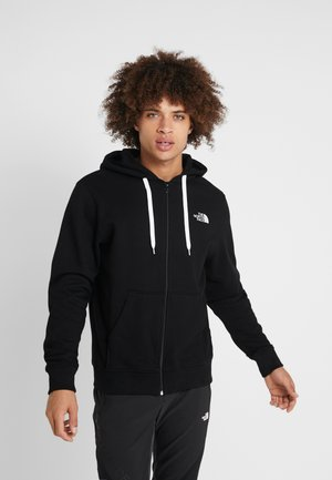 OPEN GATE - veste en sweat zippée - black/white