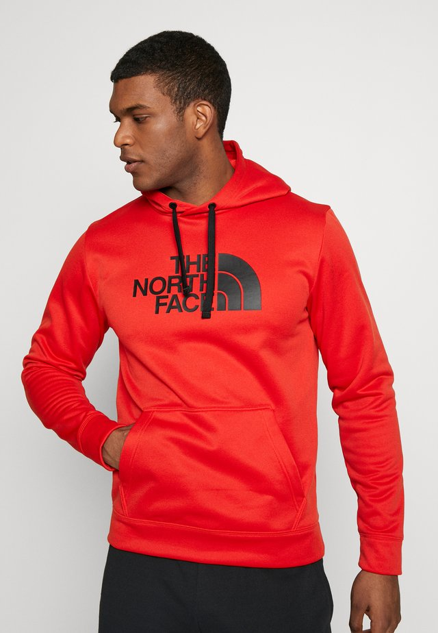 MENS SURGENT HOODIE - Jersey con capucha - fiery red heather