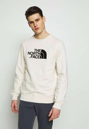 MENS DREW PEAK CREW - Sweatshirt - vintage white/black
