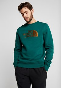 The North Face - MENS DREW PEAK CREW - Sweatshirt - night green - 0