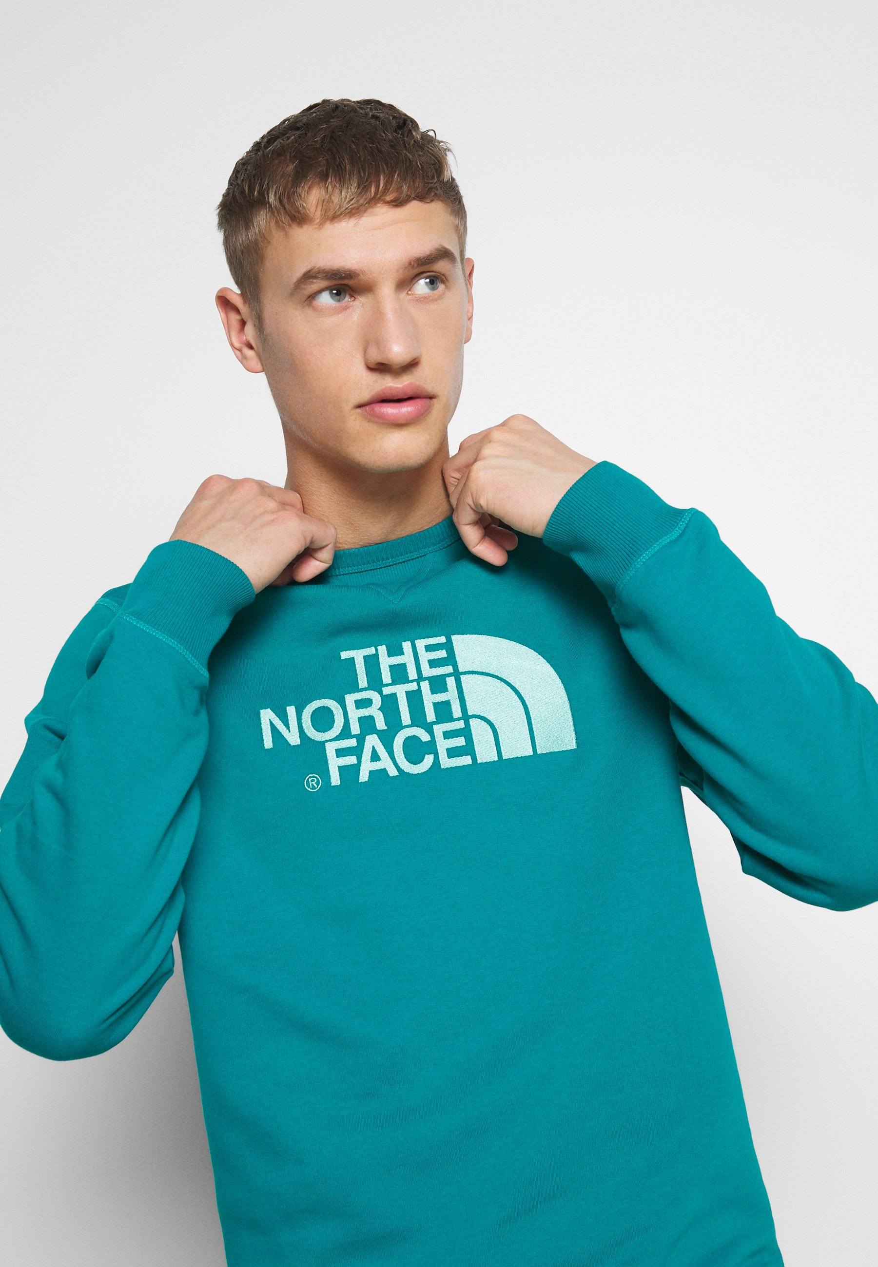The North Face Mens Drew Peak Crew - Sweatshirt Fanfare Green