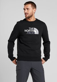 The North Face - DREW PEAK CREW - Collegepaita - black - 0