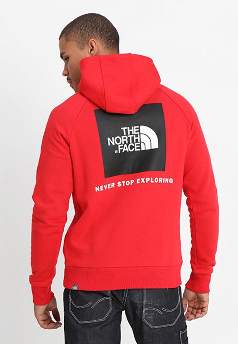 The North Face - RAGLAN BOX HOODIE - Hoodie - red/black/black