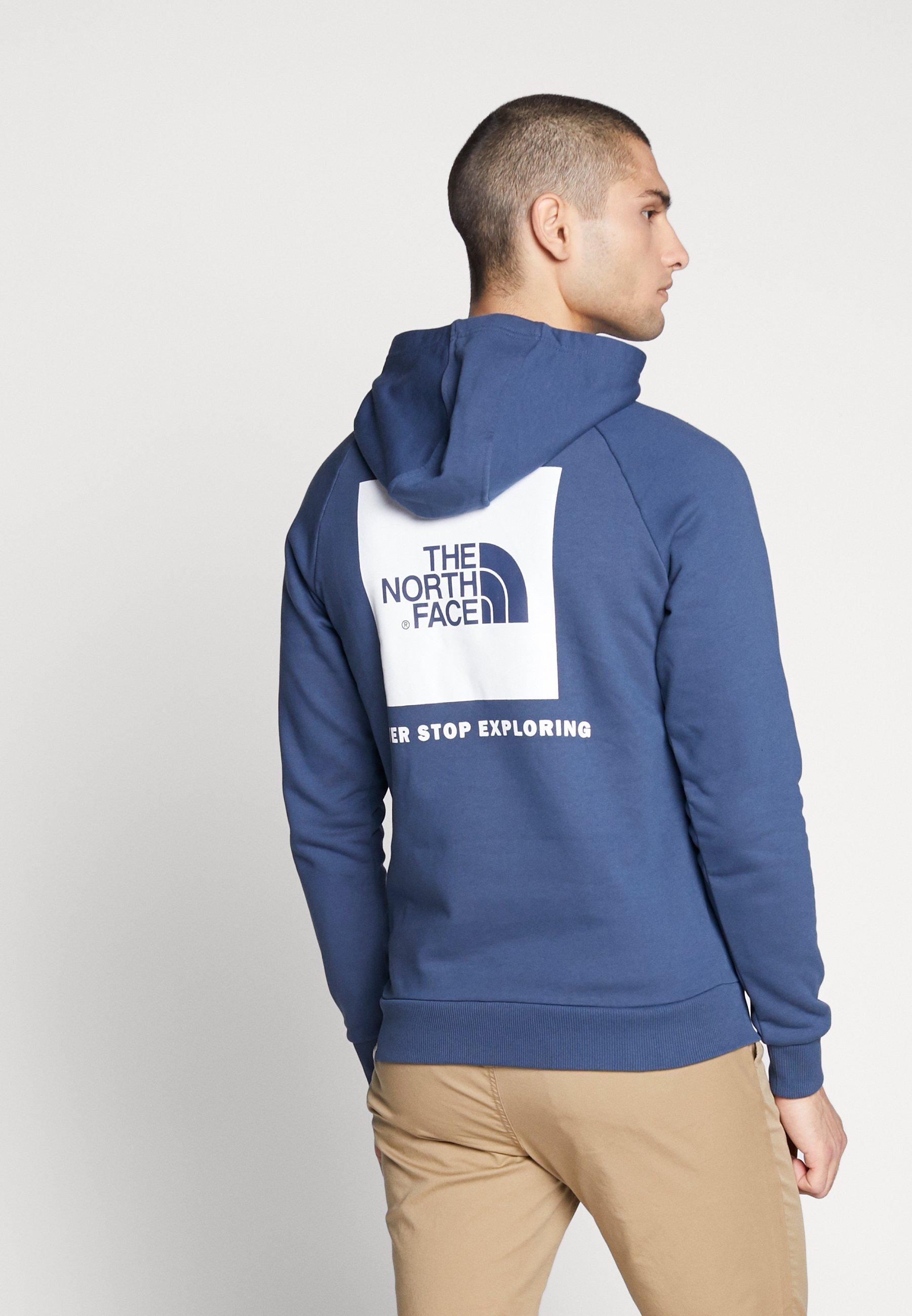 The North Face RAGLAN BOX HOODIE - Bluza z kapturem - blue wing teal