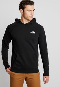 The North Face - RAGLAN BOX HOODIE - Huppari - black/white - 0