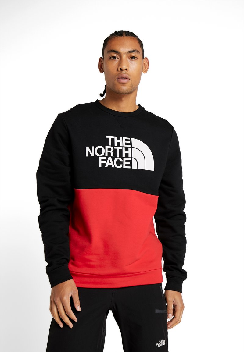 The North Face - CANYONWALL CREW - Sweatshirt - black/red