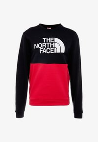 The North Face - CANYONWALL CREW - Sweatshirt - black/red - 6
