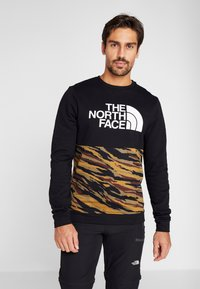 The North Face - CANYONWALL CREW - Collegepaita - black/british kaki - 0