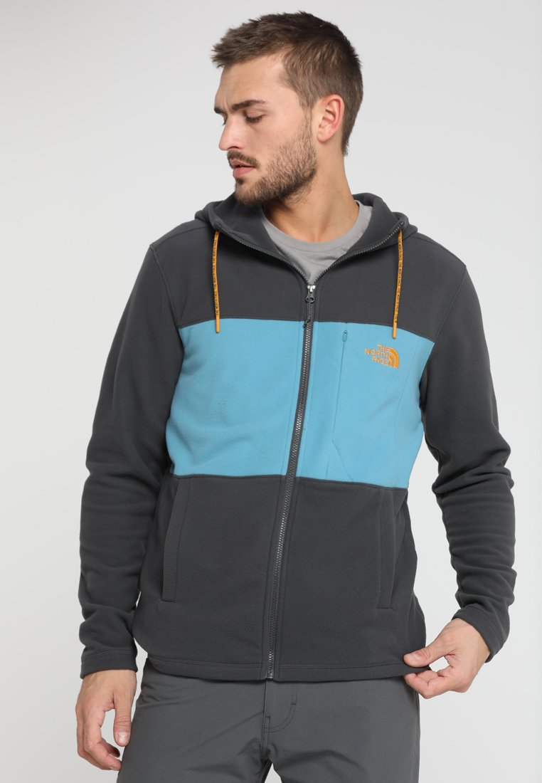 The North Face - BLOCKED - Fleecejacke - asphalt grey/storm blue
