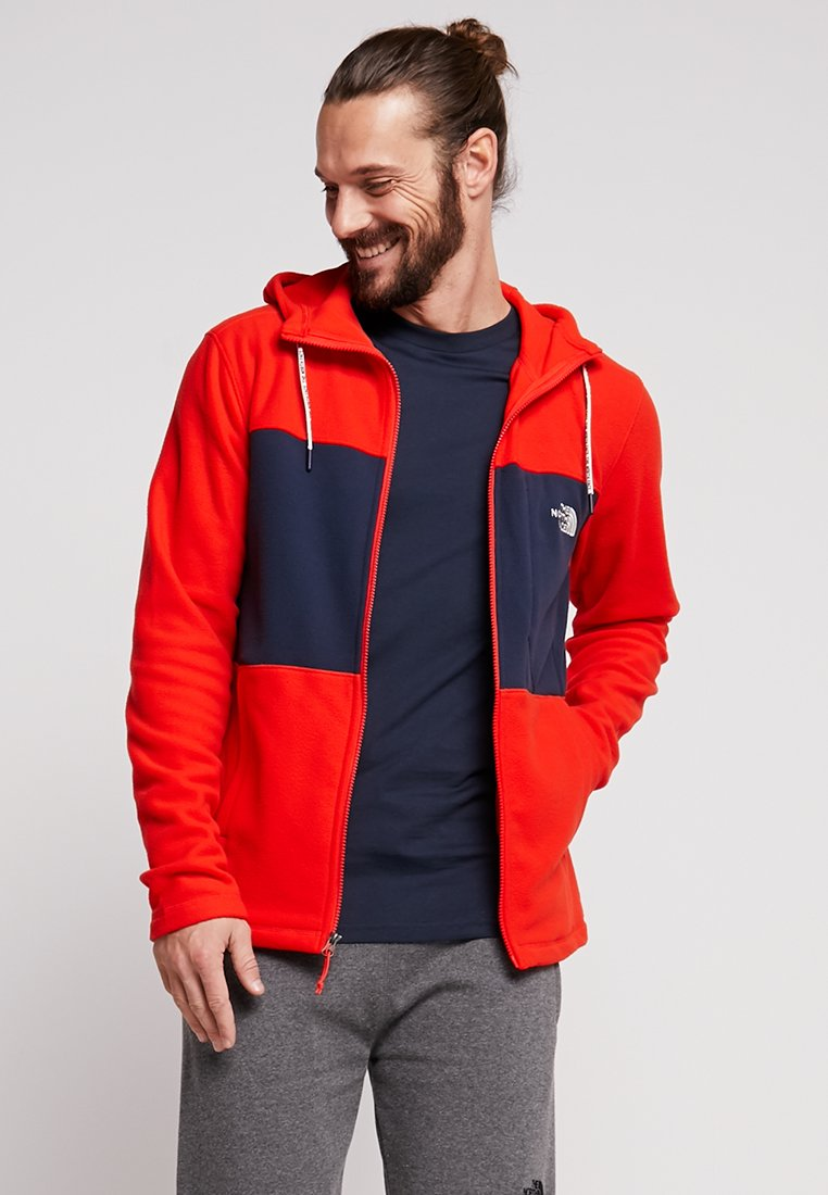 The North Face - BLOCKED - Fleece jacket - fryrd/urbannavy