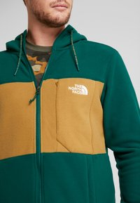 The North Face - BLOCKED - Fleecejacka - night green/british khaki - 4