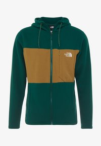 The North Face - BLOCKED - Fleecejacka - night green/british khaki - 3