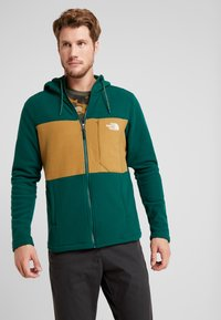 The North Face - BLOCKED - Fleecejacka - night green/british khaki - 0