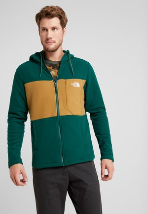 BLOCKED - Fleecejakke - night green/british khaki