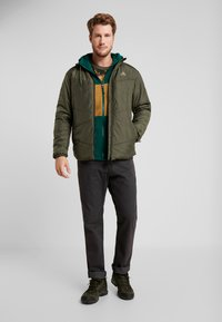 The North Face - BLOCKED - Fleecejacka - night green/british khaki - 1