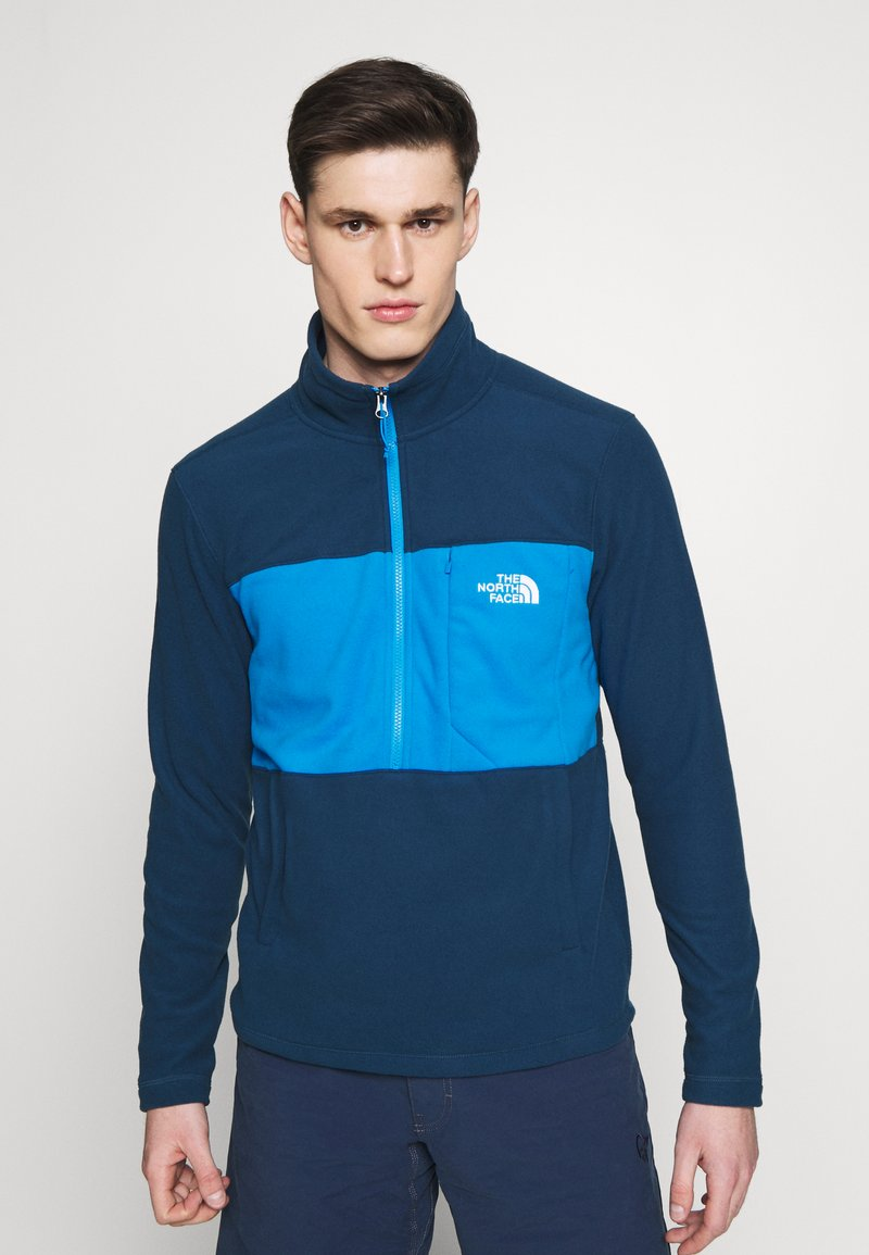 The North Face - MENS BLOCKED ZIP - Fleece jumper - blue wing teal/clear lake blue