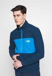 The North Face - MENS BLOCKED ZIP - Fleece jumper - blue wing teal/clear lake blue - 3