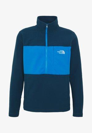 MENS BLOCKED ZIP - Fleece trui - blue wing teal/clear lake blue