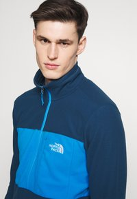 The North Face - MENS BLOCKED ZIP - Fleece jumper - blue wing teal/clear lake blue - 5