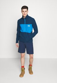 The North Face - MENS BLOCKED ZIP - Fleece jumper - blue wing teal/clear lake blue - 1