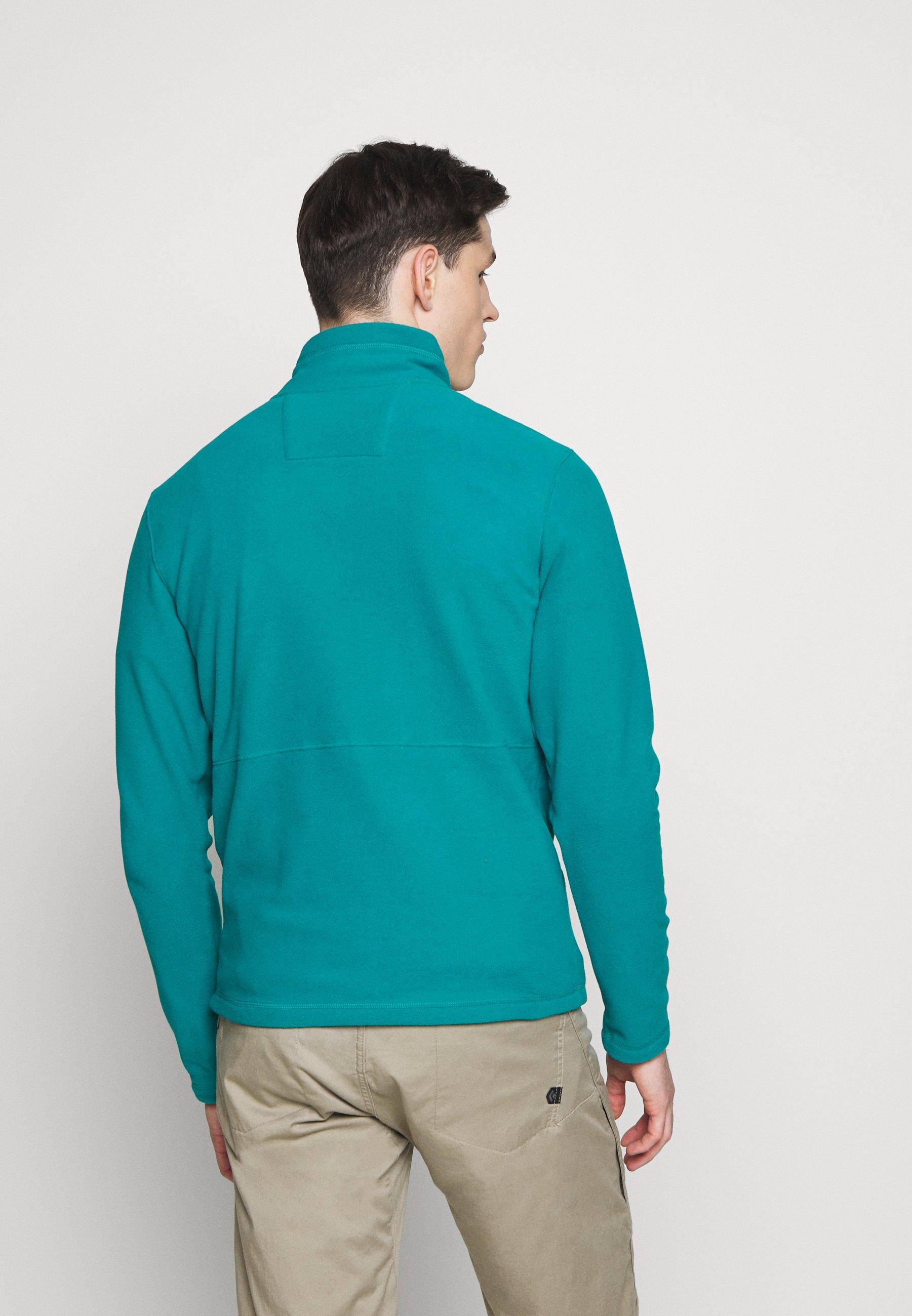The North Face MENS BLOCKED ZIP - Bluza z polaru - green/vintage white