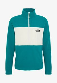 The North Face - MENS BLOCKED ZIP - Fleecová mikina - green/vintage white - 3