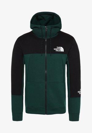 MNT LITE FULLZIPHD - veste en sweat zippée - night green