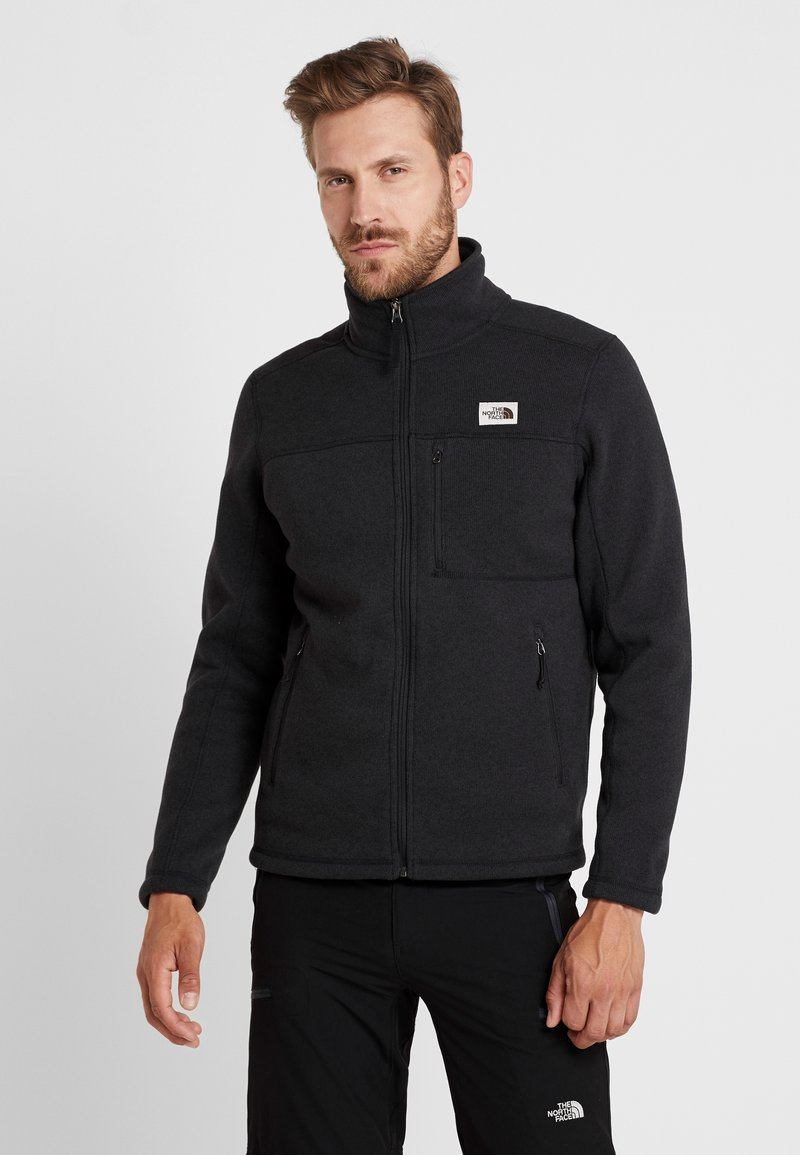 The North Face - GORDON LYONS FULL ZIP - Giacca in pile - black heather