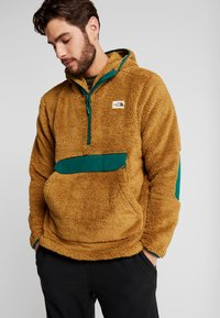 The North Face - CAMPSHIRE HOODIE - Fleece jumper - british khaki/night green - 0