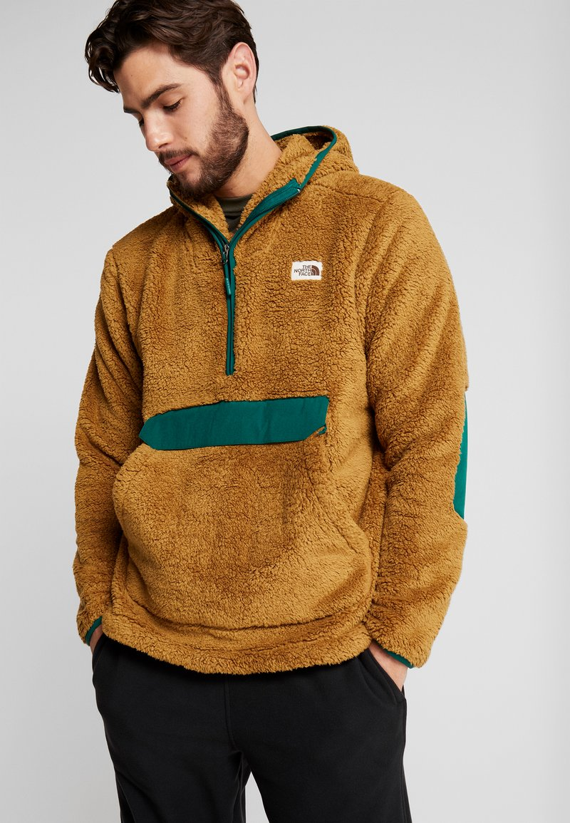 The North Face - CAMPSHIRE HOODIE - Fleece jumper - british khaki/night green