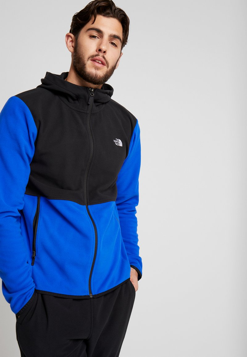 The North Face - GLACIER FULL ZIP HOODIE - Fleece jacket - blue/black